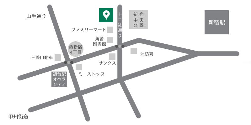 初台駅からのアクセスマップ